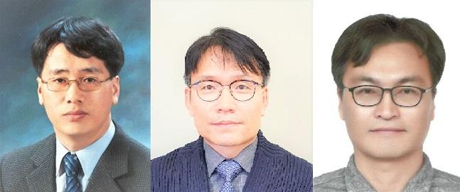 DB하이텍 이상기 부사장(왼쪽부터)·김형석·최용건 상무.ⒸDB하이텍