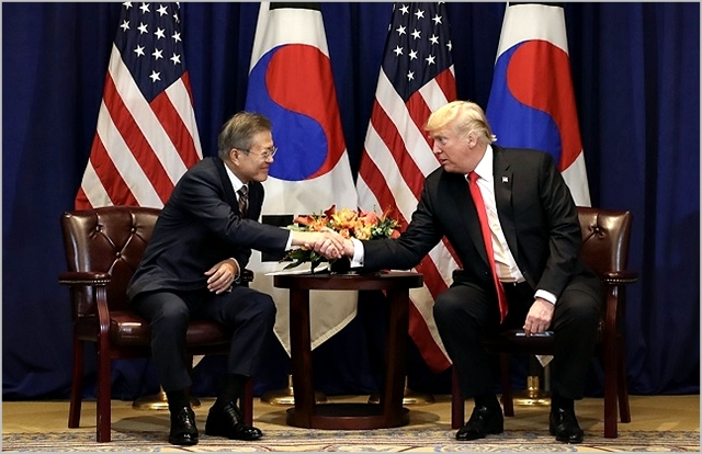 문재인 대통령과 도널드 트럼프 미국 대통령 ⓒ청와대