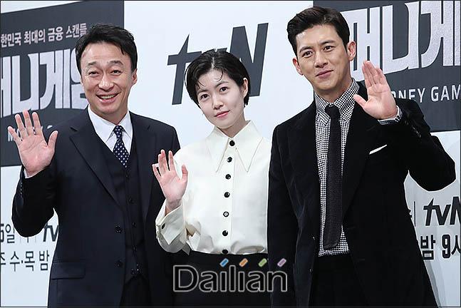 8일 오후 서울 강남구 임피리얼팰리스 호텔에서 열린 tvN 새 수목드라마