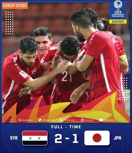 시리아에 패하며 조기에 짐을 꾸리게 된 일본. ⓒ AFC 공식 SNS