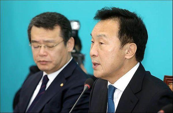 손학규 바른미래당 대표가 6일 오전 국회에서 열린 최고위원회의에서 모두발언을 하고 있다. 데일리안 박항구 기자