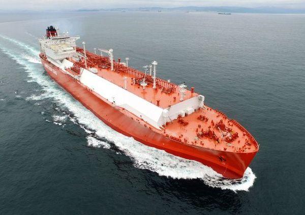 현대중공업이 건조한 LNG운반선 ⓒ현대중공업