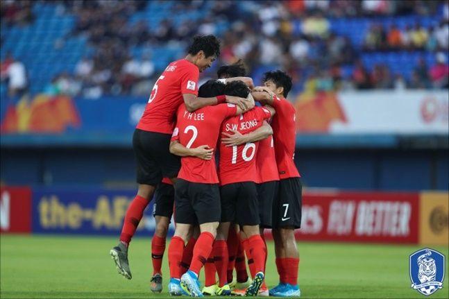 한국은 22일 오후 10시15분 호주와 결승 진출을 놓고 다툰다(JTBC 생중계).ⓒ대한축구협회
