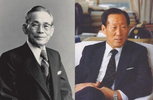 (왼쪽부터) 이병철 삼성그룹 창업주, 정주영 현대그룹 창업주ⓒ각사