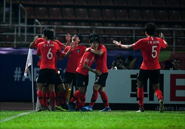 [한국 호주] 한국은 이번 대회 3위 팀까지 주어지는 '2020 도쿄올림픽' 본선 진출 티켓을 확보했다. ⓒ 뉴시스