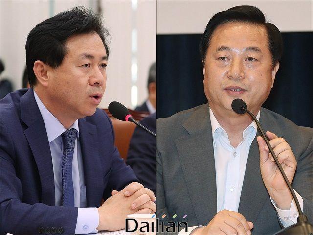 더불어민주당 김영춘 의원과 김두관 의원ⓒ데일리안 DB