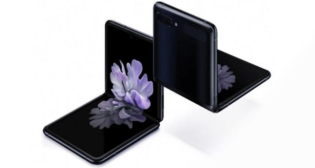 독일 IT 전문 매체 '윈퓨처'가 공개한 삼성전자 폴더블 스마트폰 '갤럭시Z 플립' 이미지.ⓒ윈퓨처