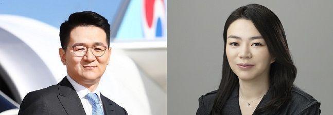 조원태 한진그룹 회장(왼쪽)·조현아 전 대한항공 부사장.Ⓒ한진그룹