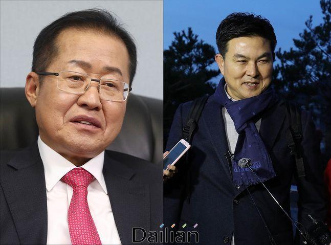홍준표 전 대표와 김태호 전 경남지사ⓒ데일리안DB