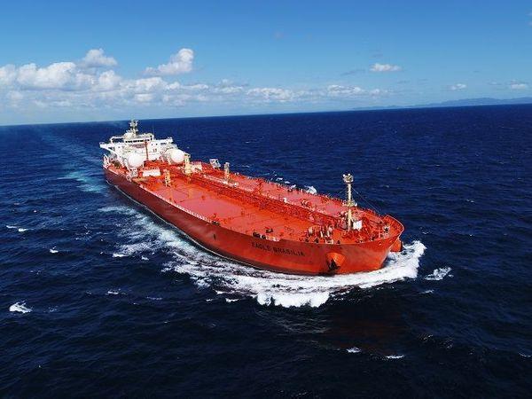 삼성중공업이 지난해 첫 인도한 LNG 연료추진 원유운반선 ⓒ삼성중공업