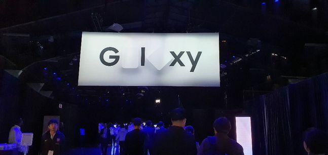 11일(현지시간) 삼성전자 '갤럭시 언팩 2020'이 열리는 미국 샌프란시스코 팰리스 오브 파인 아트 행사장 내부에서 리허설이 진행되고 있다.ⓒ데일리안 김은경 기자