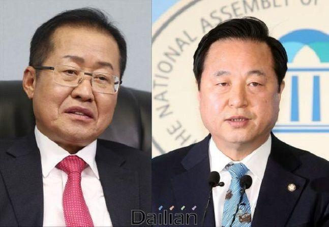 홍준표 전 자유한국당 대표와 김두관 더불어민주당 의원. ⓒ데일리안DB