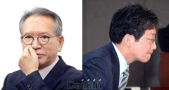 김형오 미래통합당 공관위원장과 유승민 의원ⓒ데일리안 DB