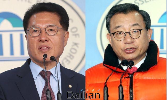 정운천 미래한국당 의원과 이정현 무소속 의원ⓒ데일리안 DB