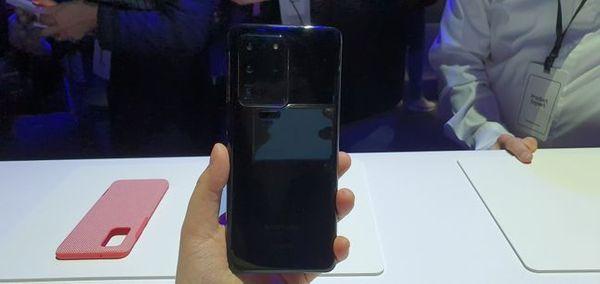 삼성전자 스마트폰 '갤럭시S20 울트라'.ⓒ데일리안 김은경 기자