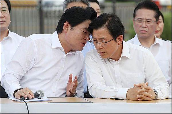 황교안 미래통합당 대표와 원유철 의원 (자료사진) ⓒ데일리안 류영주 기자