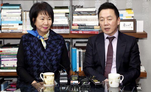손혜원 열린민주당 공관위원장과 정봉주 전 의원(자료사진) ⓒ데일리안 박항구 기자