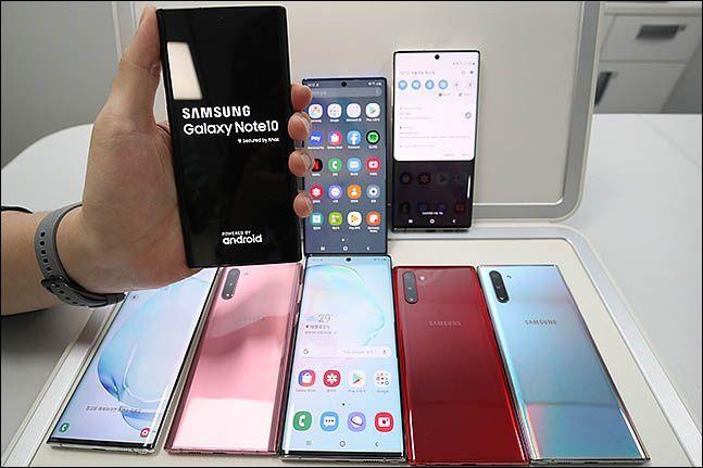 삼성전자 스마트폰 '갤럭시노트10'.(자료사진)ⓒ데일리안 류영주 기자