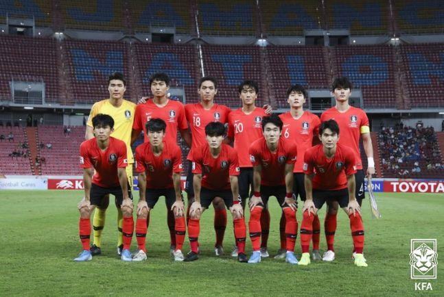 지난 1월 AFC U-23 챔피언십 우승을 차지한 올림픽 대표팀. ⓒ 대한축구협회