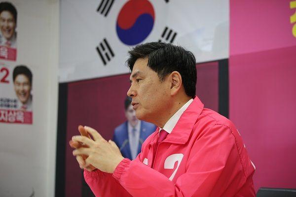 오는 4·15 총선에서 서울 중·성동을 지역에 출마하는 지상욱 미래통합당 후보 ⓒ데일리안 최현욱 기자