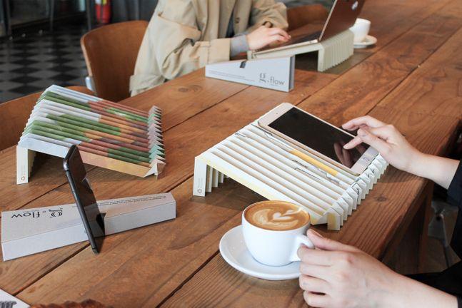 친환경 사회적 기업 '그레이프랩'이 출시한 노트북 거치대 식목일 스페셜 에디션. ⓒSK이노베이션
