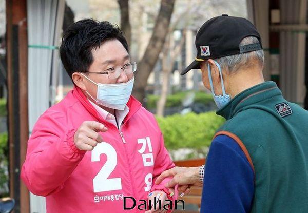 서울 구로을에 출마한 미래통합당 김용태 후보 ⓒ데일리안 박항구 기자