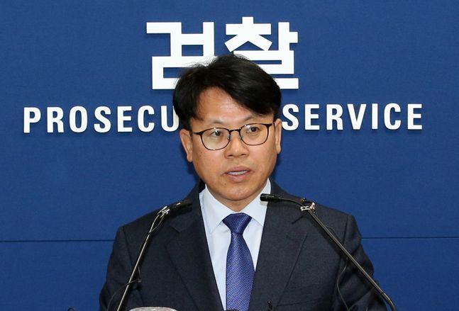 김관정 대검찰청 형사부장이 9일 오후 서울 서초동 대검찰청 기자실에서 신종 디지털 성범죄 엄벌을 위한
