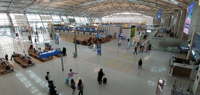 승객들 발길 끊긴 인천공항. ⓒ뉴시스