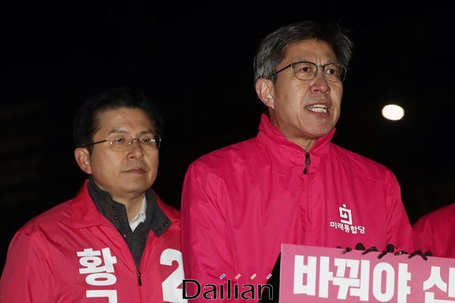 황교안 미래통합당 대표와 박형준 공동 선대위원장(자료사진) ⓒ데일리안 홍금표 기자