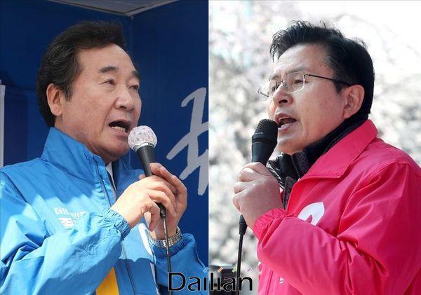 서울 종로 이낙연 더불어민주당 후보와 황교안 미래통합당 후보.ⓒ데일리안 박항구 기자