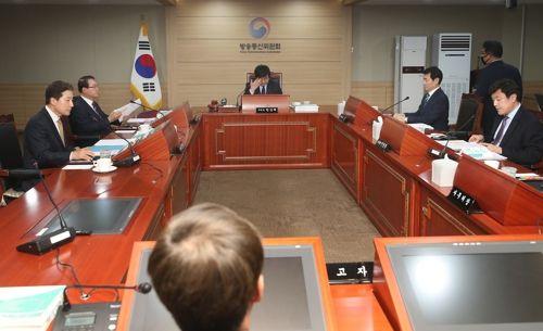 한상혁 방송통신위원장이 20일 과천 방통위에서 열린 회의에서 발언을 하고 있다. ⓒ 연합뉴스