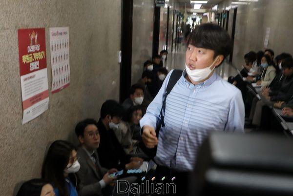 이준석 미래통합당 최고위원이 지난 20일 국회에서 열린 비공개 최고위원회의에 참석하고 있다. ⓒ데일리안 박항구 기자