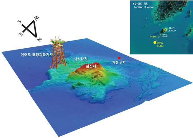 이어도 해역의 3차원 해저지형 ⓒ해수부