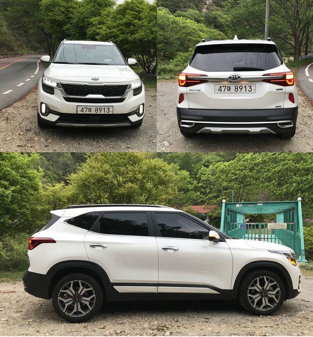 셀토스 전, 후, 측면. 전형적인 2박스 SUV 디자인이다. ⓒ데일리안 박영국 기자
