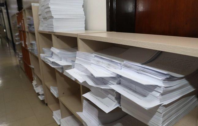 서울 여의도 국회 법제사법위원회에 각종 법안이 처리를 기다리고 있다.ⓒ연합뉴스