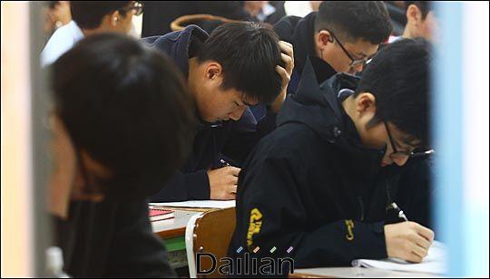 서울 청운동 경복고등학교에서 고3 수험생들이 자습하고 있는 모습(자료사진). ⓒ데일리안