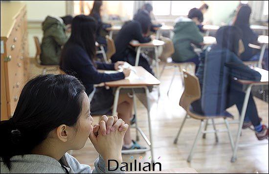 서울의 한 고등학교 교실(자료사진). ⓒ데일리안 박항구 기자