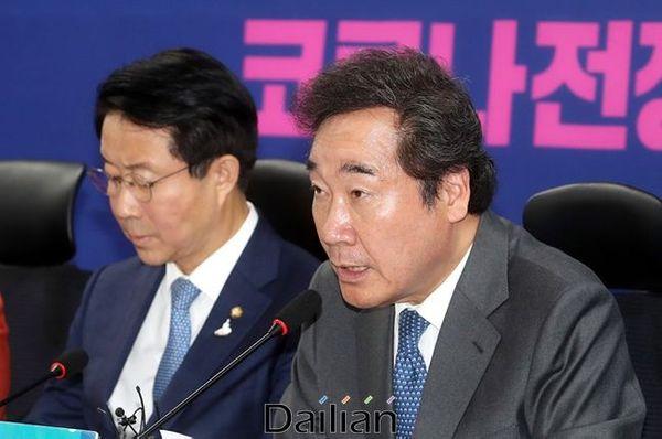 이낙연 민주당 코로나19국난극복위원장 ⓒ데일리안 박항구 기자