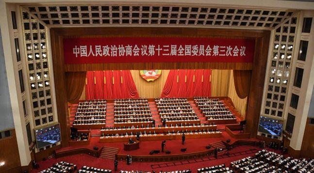 지난 21일 개최된 중국 양회(兩會)의 인민정치협상회의(정협) 전국위원회 회의 개막식 장면 ⓒ연합뉴스