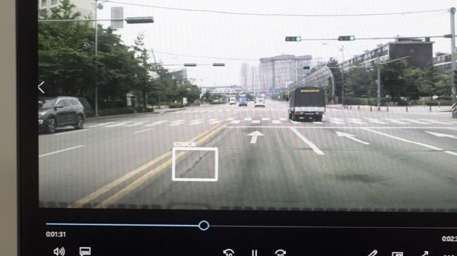 도로시가 개발한 차량주행영상을 통한 도로안전 진단 시스템.ⓒDB손해보험