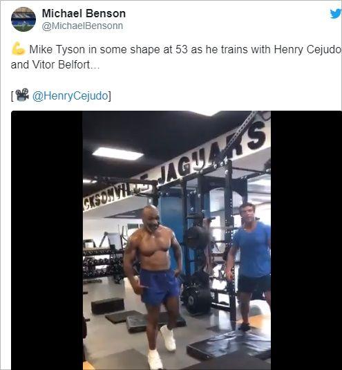 체력 훈련하는 타이슨.