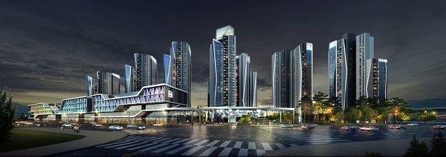 삼성물산이 제안한 반포3주구 재건축 아파트 투시도. ⓒ삼성물산