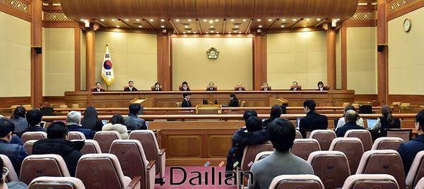 헌법재판소 대심판정(자료사진). ⓒ데일리안 홍금표 기자