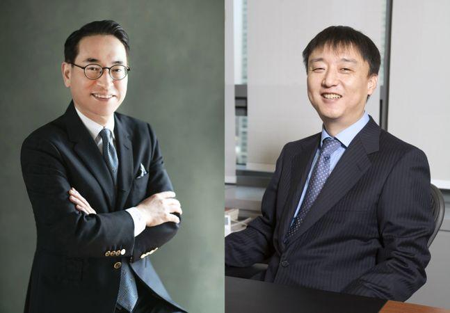 홍원표 삼성SDS 대표이사 사장(왼쪽)과 이준호 NHN 회장ⓒNHN