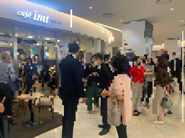 30일 코엑스 지하 1층 한 카페에 마련된 직원쉼터. ⓒ김희정 기자