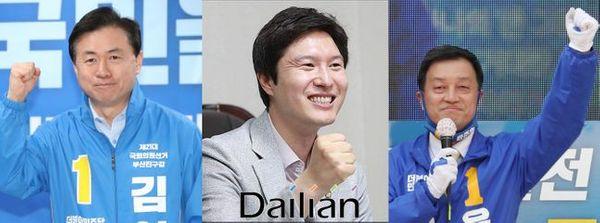 4·15 총선에서 아쉽게 낙선한 부산 지역 더불어민주당 전 의원들. (왼쪽부터) 김영춘·김해영·윤준호 전 의원ⓒ데일리안 DB