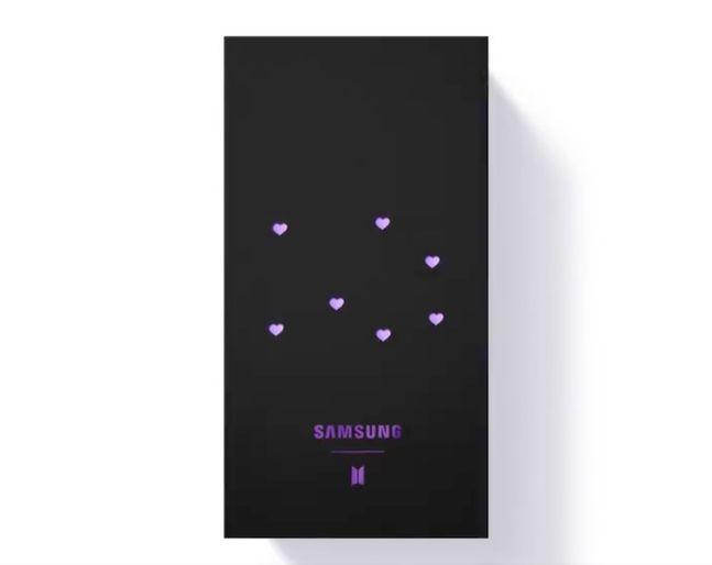 삼성전자 '갤럭시 BTS 스페셜 에디션' 제품 박스 이미지. 삼성전자 트위터 캡처.