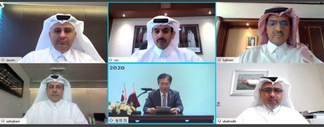 카타르 국영석유회사인 카타르페트롤리엄(QP)은 1일 홈페이지에 올린 보도자료를 통해 현대중공업, 삼성중공업, 대우조선과 LNG선 관련 협약을 맺었다고 밝혔다.ⓒ카타르페트롤리엄(QP) 홈페이지 캡처