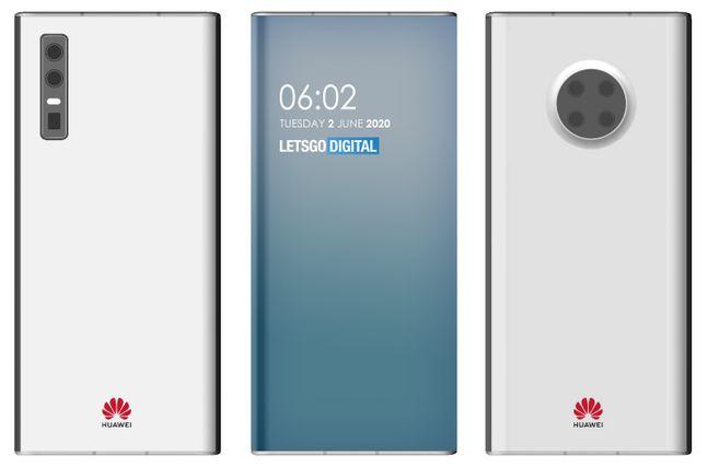 네덜란드 IT매체 렛츠고디지털이 화웨이 스마트폰 특허를 관련으로 제작한 렌더링. 렛츠고디지털 홈페이지 캡처