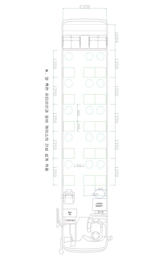 이동검사용 버스 설계도.ⓒ국토교통부